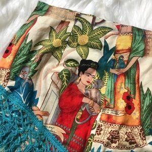 Frida Kahlo tassel skirt